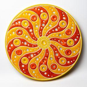 Mandala V – ceramika artystyczna